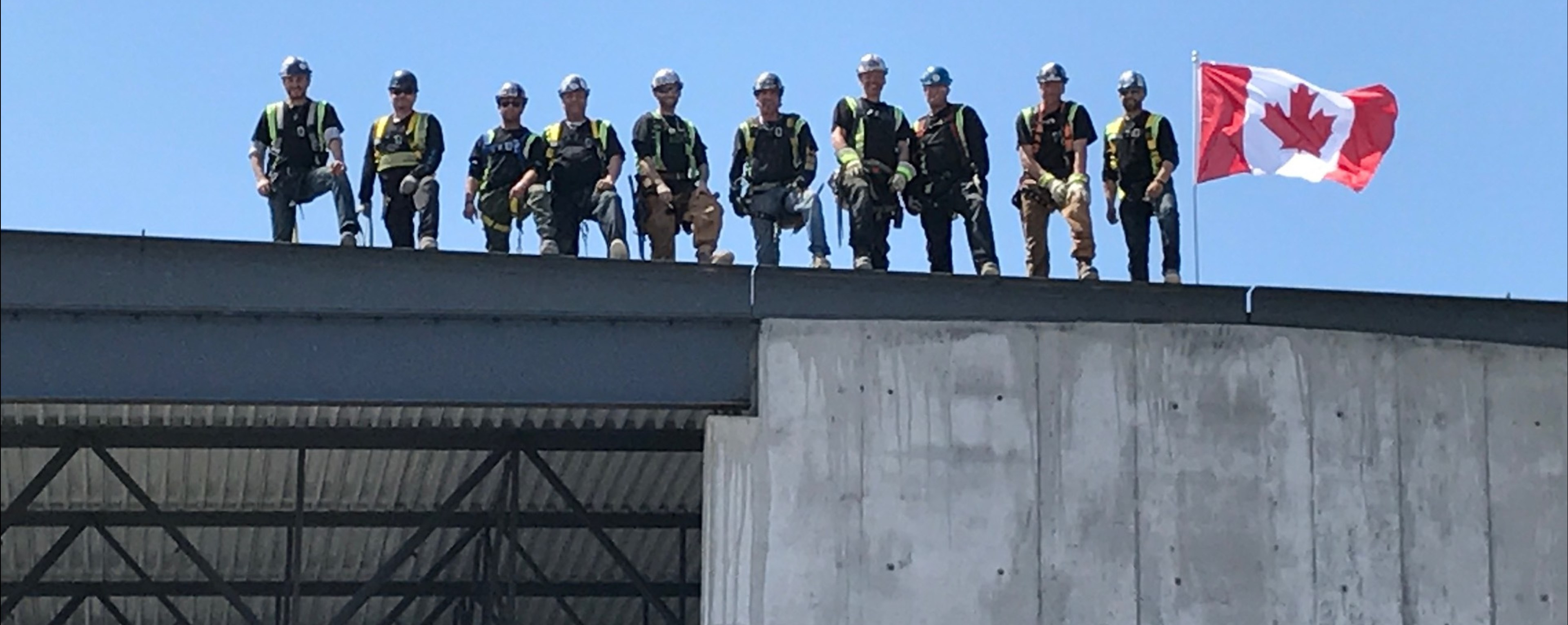 Workers on a Roof
